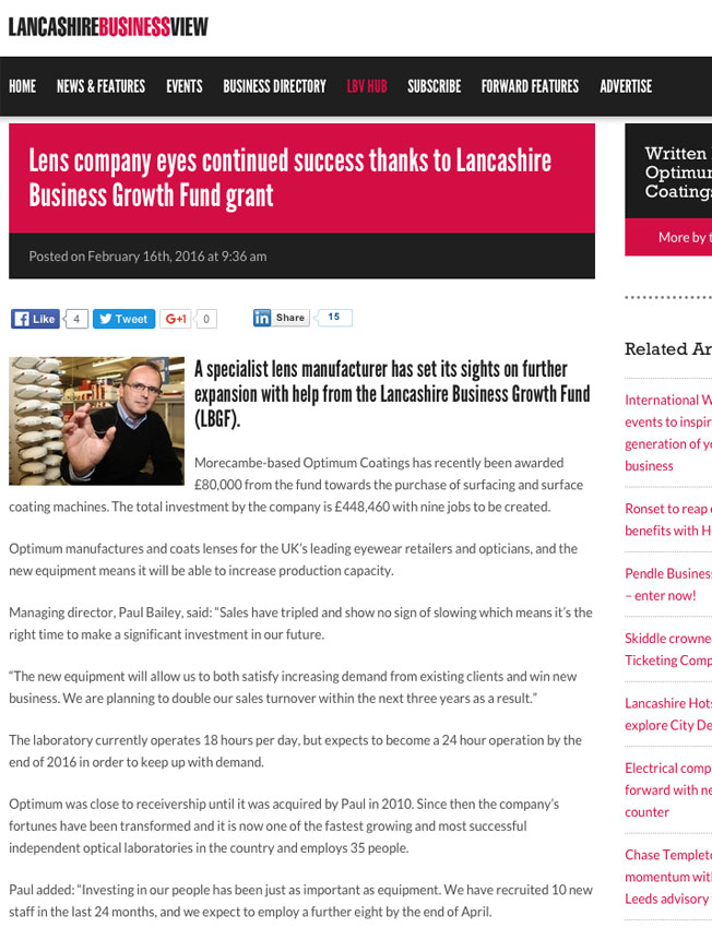 Lancashire Business View Feb 2016