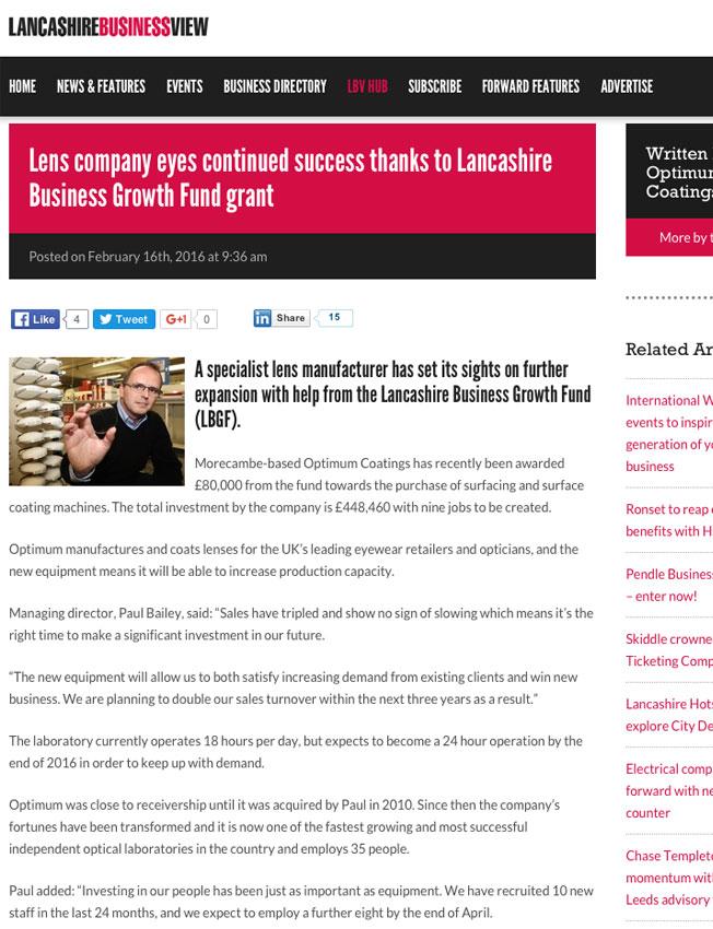 Lancashire Business View Feb 2016