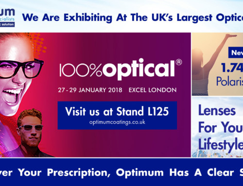 Optimum Rx Lens Specialists will be exhibiting at 100% Optical 2018, Stand L125