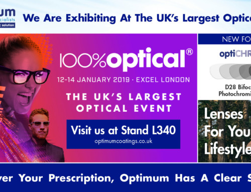 Optimum Rx Lens Specialists will be exhibiting at 100% Optical 2019, Stand L340
