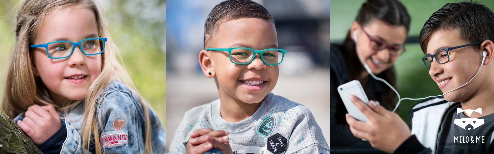 Milo and Me Eyewear - Banner - Optimum RX Lens Specialists