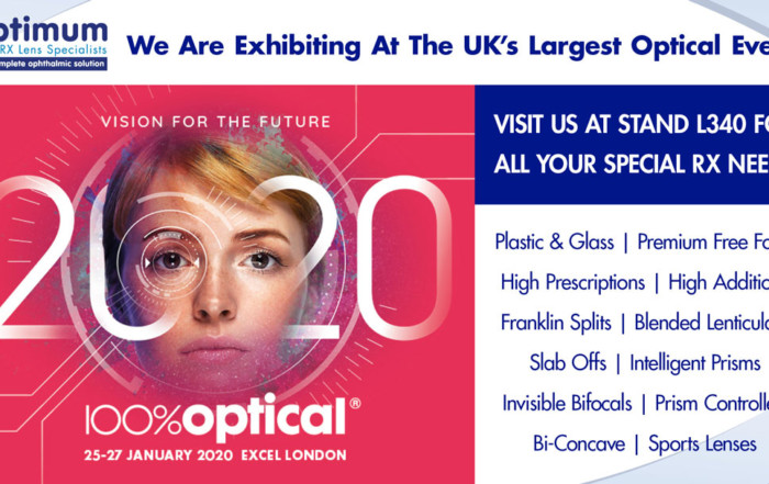 Optimum Rx Lens specialists are attending 100% Optical