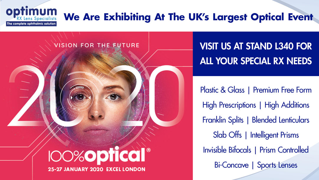 Visit Optimum at 100% Optical – Stand L340