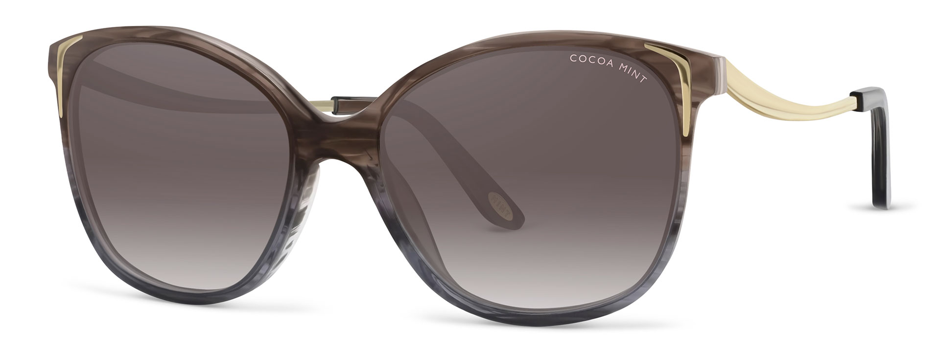 Cocoa Mint Sun Glasses - Brown Ombre - CMS2068-C1