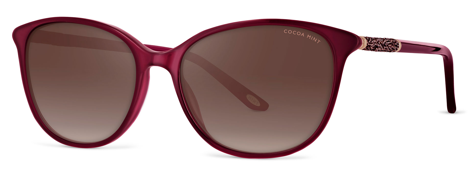 Cocoa Mint Sun Glasses - Burgundy - CMS2067-C2