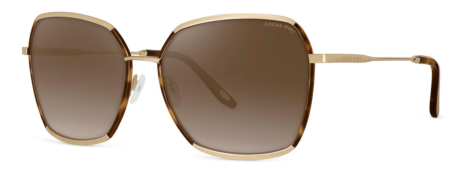 Cocoa Mint Sun Glasses - C1 Gold:Tortoiseshell - CMS2566-C1