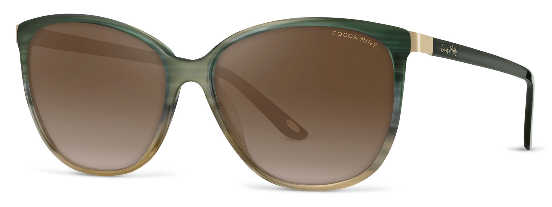 Cocoa Mint Sun Glasses - Green Ombre - CMS2071-C1