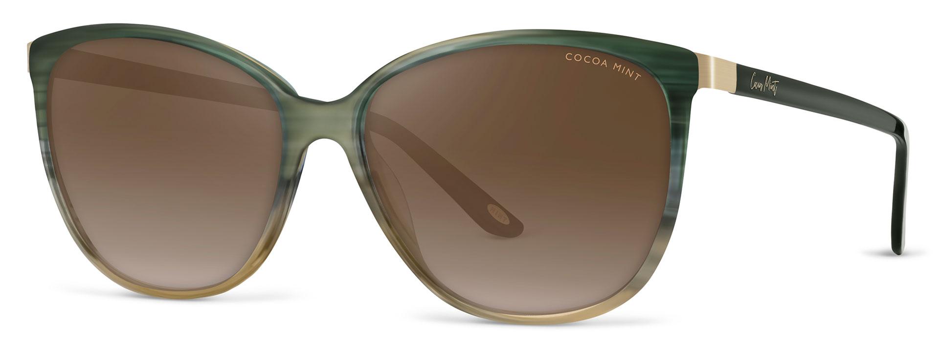 Cocoa Mint Sun Glasses - Green Ombre - CMS2071-C1