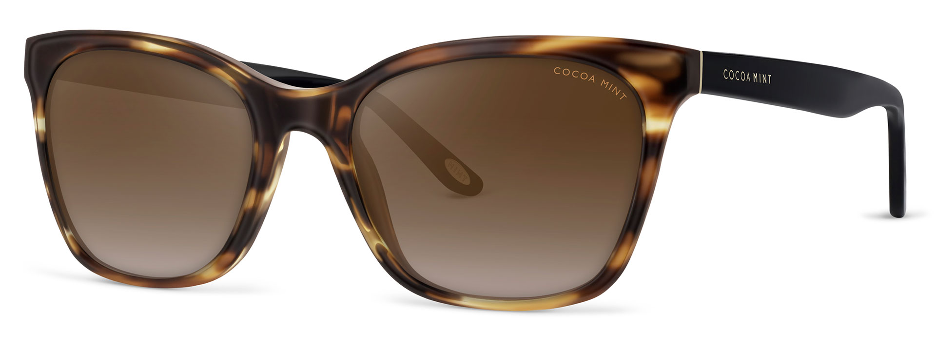 Cocoa Mint Sun Glasses - Havana-Black - CMS2061-C1