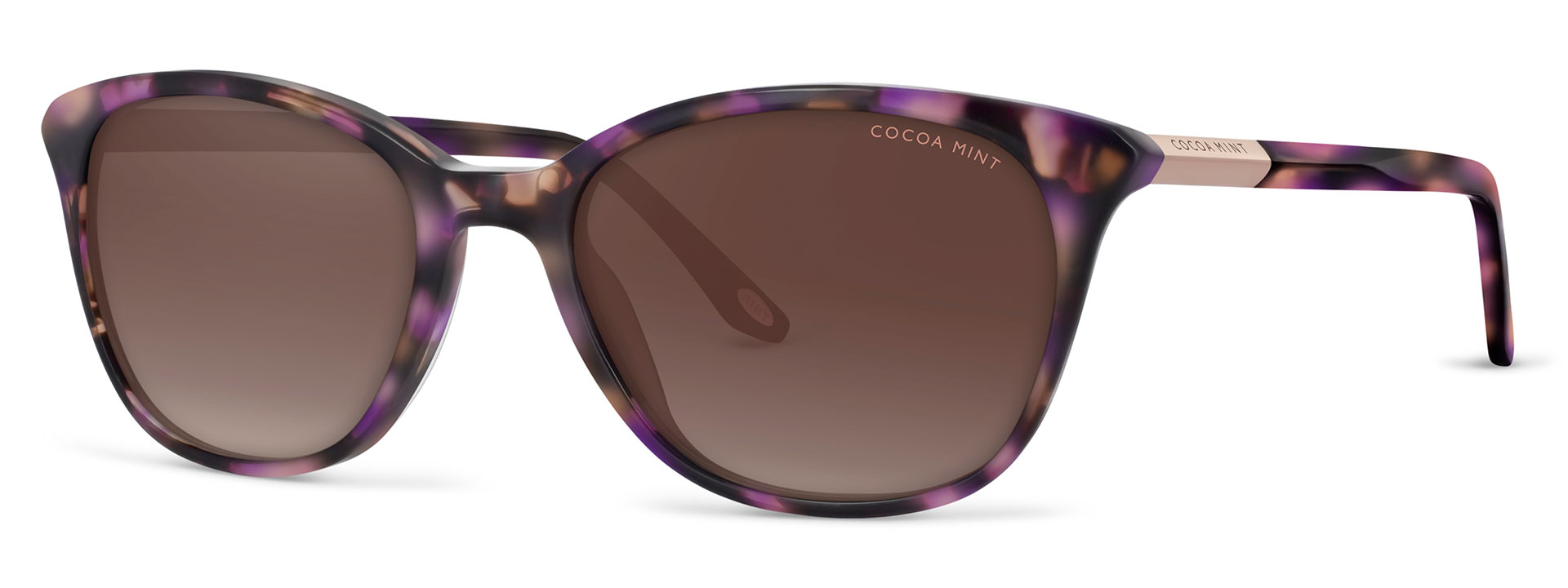 Cocoa Mint Sun Glasses - Purple Tortoiseshell - CMS2060-C1